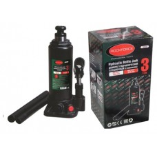 Bottle jack 3T with valve (pickup height - 194mm, lifting height - 372mm, rod step - 118mm)