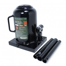 Bottle jack 30T low profile + repair kit (pickup height - 240mm, lifting height - 370mm, rod step -