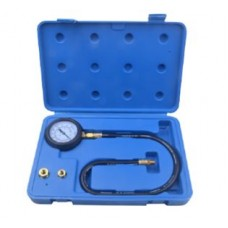 Engine oil pressure tester kit with threaded adaptors 3pcs (0-7bar), in a case