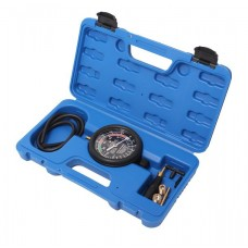 Fuel and vacuum pressure tester with a set of threaded adapters 9pcs, in a case