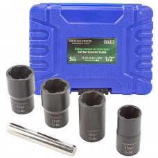 Drive twist socket set 5pcs, 1/2''(17,19,21,22mm), in a case