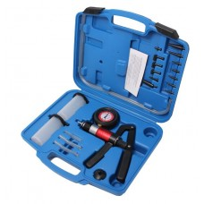 Brake bleeding kit with vacuum pressure pump (pressure 0-3bar, vacuum -1 - 0 bar), in a case