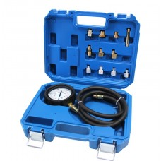 Engine oil pressure tester kit with threaded adaptors 12pcs (0-28bar), in a case