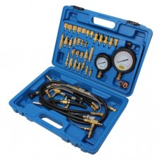 Fuel injector pressure test kit with adaptors 41pcs (0-10 bar), in a case