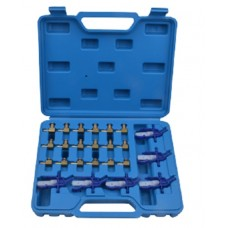 Adapters set for injector return tester (Common Rail) 24pcs, in a case