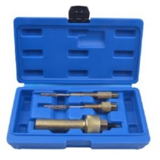 Glow plug puller and reamer tool set 3pcs, in a case