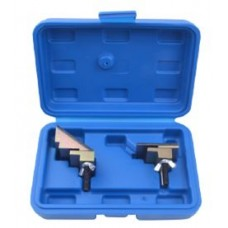 Belt tool kit for elastic ribbed belts 2pcs, in a case