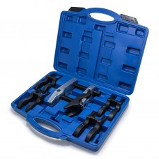 Ball joint separator tool kit with changeable jaws 5pcs (jaw size: 20, 22, 24, 27, 30mm), in a case