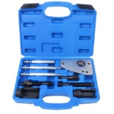Diesel injector removal tool set 9pcs, Bosch, Siemens (PSA HDI 2.0, 2.2 16V), in a case