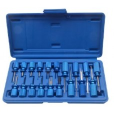 Universal terminal release cable extractor tool set 19pcs, in a case
