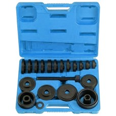 Wheel hub bearing removal tool set 23pcs, in a case