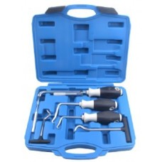 Extra long hook and pick set sealing rings and oil seals remover 6pcs, in a case