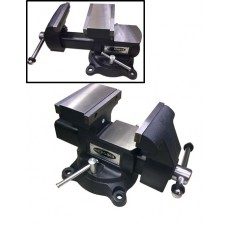 Steel swivel (american-type) vice swiveling in two planes with anvil+pipe grab 5.5''-140mm (1. - min