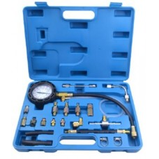 Fuel injector pressure test kit 21pcs (0-10 bar), in a case