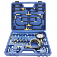 Fuel injector pressure test kit with adaptors 46pcs (0-10 bar), in a case