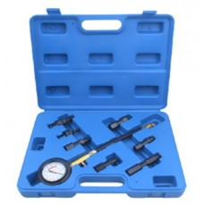 Compression tester kit 8 pcs (0-21bar), in a case
