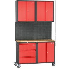 Garage storage cabinet set 7 pcs 460х2180х1330mm (double-wing cabinet, 1 shelf: 300х660х760-2pcs, do