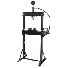 Shop press with pressure gauge 12T, (operating height: 0-900mm, operating width: 475mm, workbench: 1