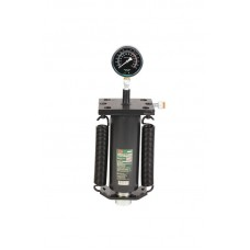 Hydraulic cylinder jack with pressure gauge for press and return spring 40T
