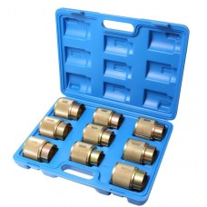 Motorcycle fork oil seals removal tool set 9pcs (Ø35-36, 39, 41, 43, 45, 46-47, 48, 49-50, 54), in a