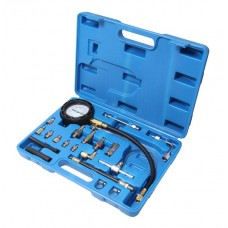 Fuel injector pressure test kit 20pcs (0-10bar), in a case