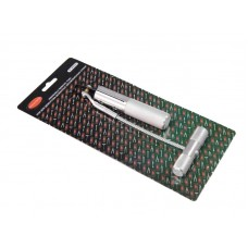 Automobile glass removal knife tool, in blister
