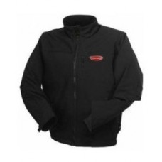 Waterproof jacket with electric heating (р.46-48, black, battery:5V, 2A, from 10000 mAh, 3 heating m