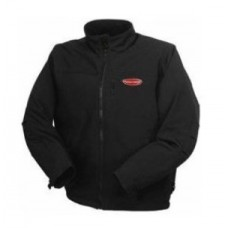 Waterproof jacket with electric heating (р.48-50, black, battery:5V, 2A, from 10000 mAh, 3 heating m