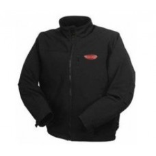 Waterproof jacket with electric heating (р.50-52, black, battery:5V, 2A, from 10000 mAh, 3 heating m