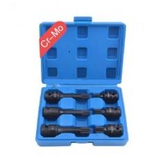 Spline impact socket bit set 1/2'', 6pcs (m14, m16, m18х45mm, m14, m16, m18х78mm), in a case