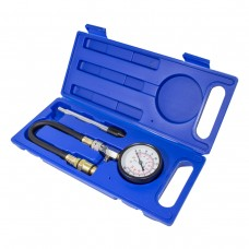 Gas cylinder compression tester ''Profi''(0-21Bar, m14, m18 + hard downforce adapter) 3pcs, in a case