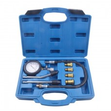 Gas cylinder compression tester ''Profi''8pcs (0-21Bar, m10, m12, m14, m18 + 2 hard downforce adapter