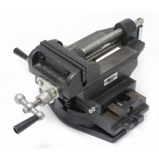 Machine vice with extra screw gear for direction adjusting ''back and forth'', ''left - right''5''-125mm
