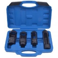 Diesel injector socket set 4pcs (22х110mm, 22х80mm, 27х80mm ,28х80mm), in a case