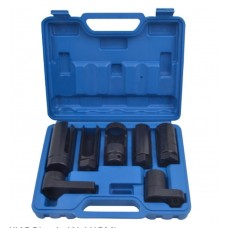 Oxygen sensor switch socket set 7pcs (22, 27, 29mm), in a case