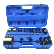 Wheel hub bearing removal tool set 25pcs (Ø 60-85mm), in a case