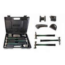 Auto body panel repair tool kit 7pcs, in a case