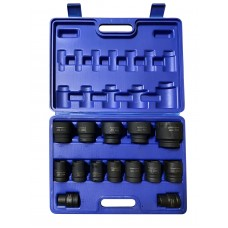 Impact socket set 14pcs, 3/4''(17,19,21,22,24,27,30,32,34,35,36,41,46,50mm), in a case