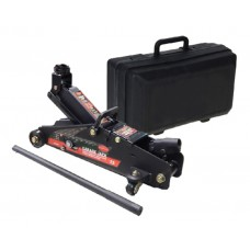 Floor jack 2.5T with fixation (h min 140mm, h max 387mm), in a case