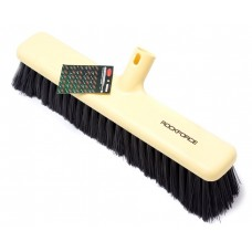Soft grip nylon wire scrub brush block with threaded opening (brush width 400mm, plastic wire 6х27 r