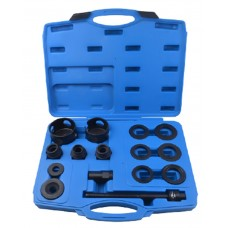Wheel hub bearing removal tool set 15pcs (external Ø: 62, 64, 66, 68, 72, 74mm), in a case