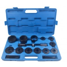 Wheel hub bearing removal tool set 17pcs (Ø:55.5, 59, 62, 65, 66, 71.5, 73, 78, 84), in a case