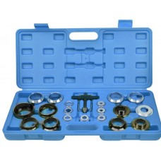 Crank seal remover and installer kit, in a case