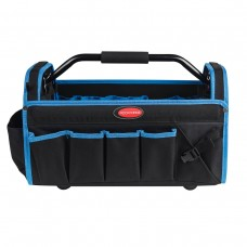 Open tool bag (500x250x320 mm, 31 pockets, light metal frame and handle with a paralon strap + shoul