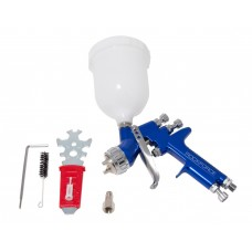 Professional spray gun gravity feed with top plastic tank (600ml, 1.3mm, 2.5bar, 142-198l/min, joini