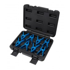 Universal plastic spring clamp set 8pcs, in a case