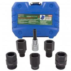 Diesel injector removal tool set 6pcs (M14х1.5, M17х1.0, M20х1.0, M25х1.0, M27х1.0, Н10 with hole),