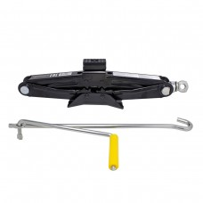 Scissor jack 1T with rubber pad (h min 100mm, h max 350mm, L-385mm)