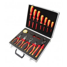Insulated pliers and screwdriver set 14 pcs (screwdrivers: РН:0х60, 3х150, РZ2х100, SL:4х75, 4x100,