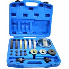 Wheel hub bearing removal tool set